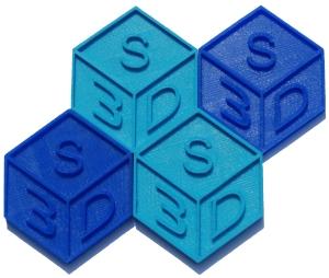 3D printed S3D logo image