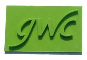 GWC Company Logo 3D printed