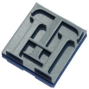 TH Company Logo 3D printed